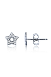 6th Borough Boutique Sterling Star Studs - Front full body