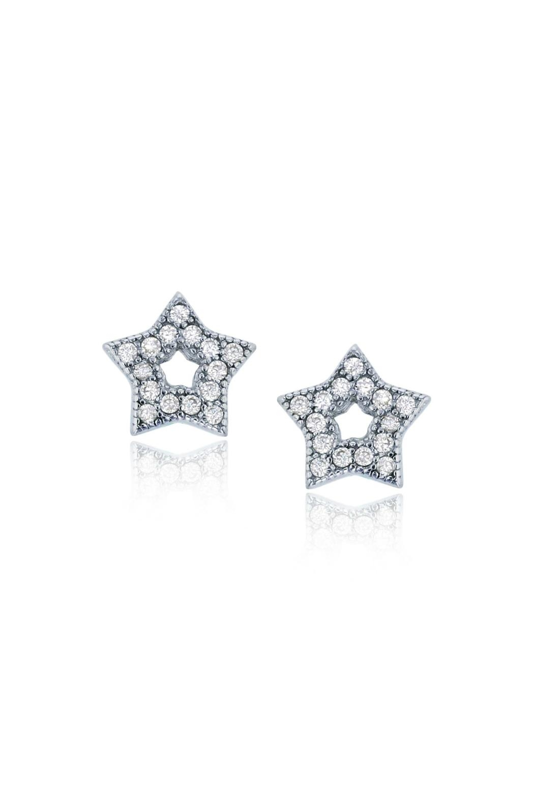 6th Borough Boutique Sterling Star Studs - Front Cropped Image