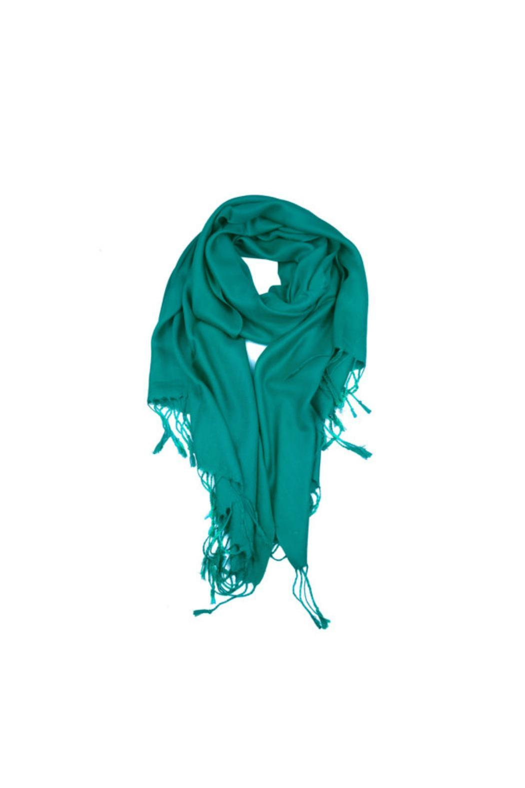 6th Borough Boutique Teal Pashmina Scarf - Main Image