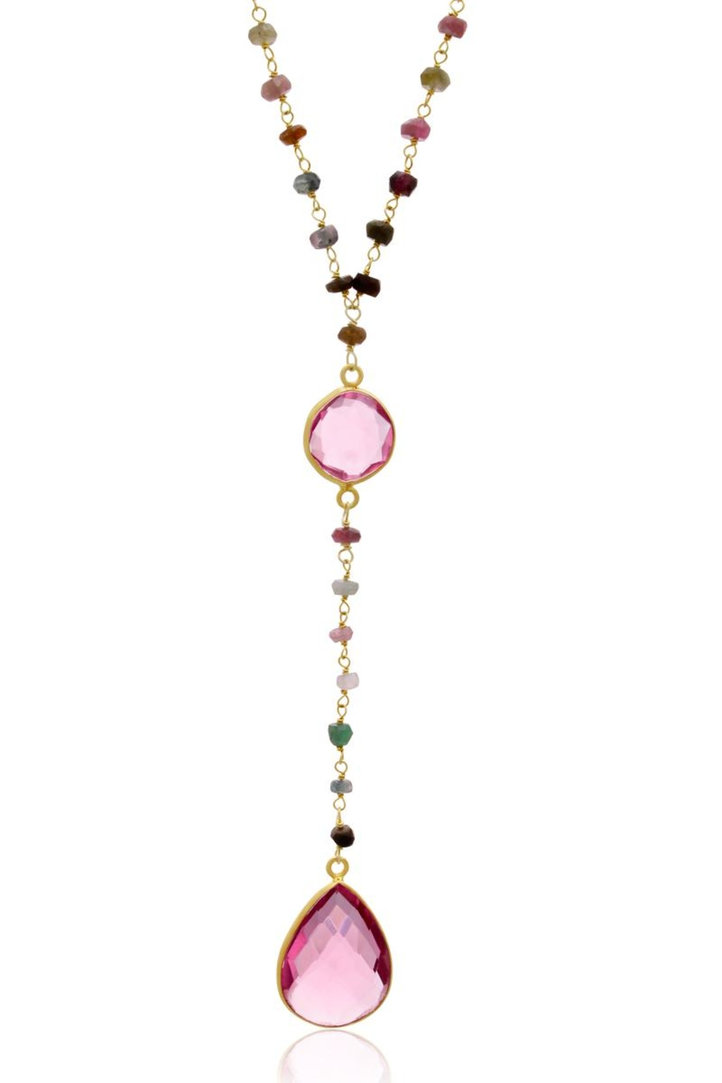 6th Borough Boutique Tourmaline Lariat Necklace - Front Cropped Image