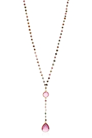 6th Borough Boutique Tourmaline Lariat Necklace - Front full body