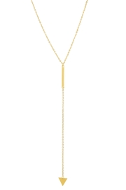 6th Borough Boutique Triangle Lariat Necklace - Product Mini Image