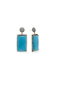 6th Borough Boutique Turquoise Ella Earrings - Product List Image