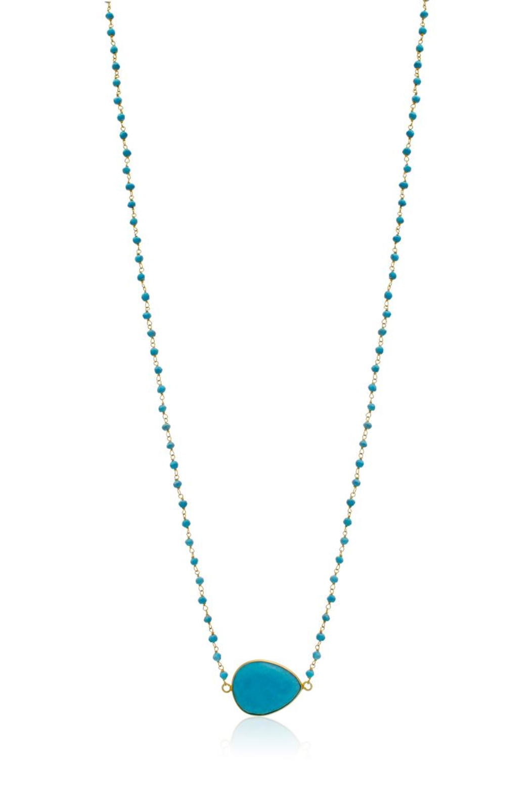 6th Borough Boutique Turquoise Harper Necklace - Front Full Image