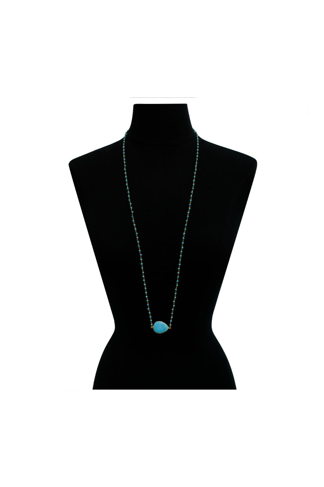 6th Borough Boutique Turquoise Harper Necklace - Side Cropped Image