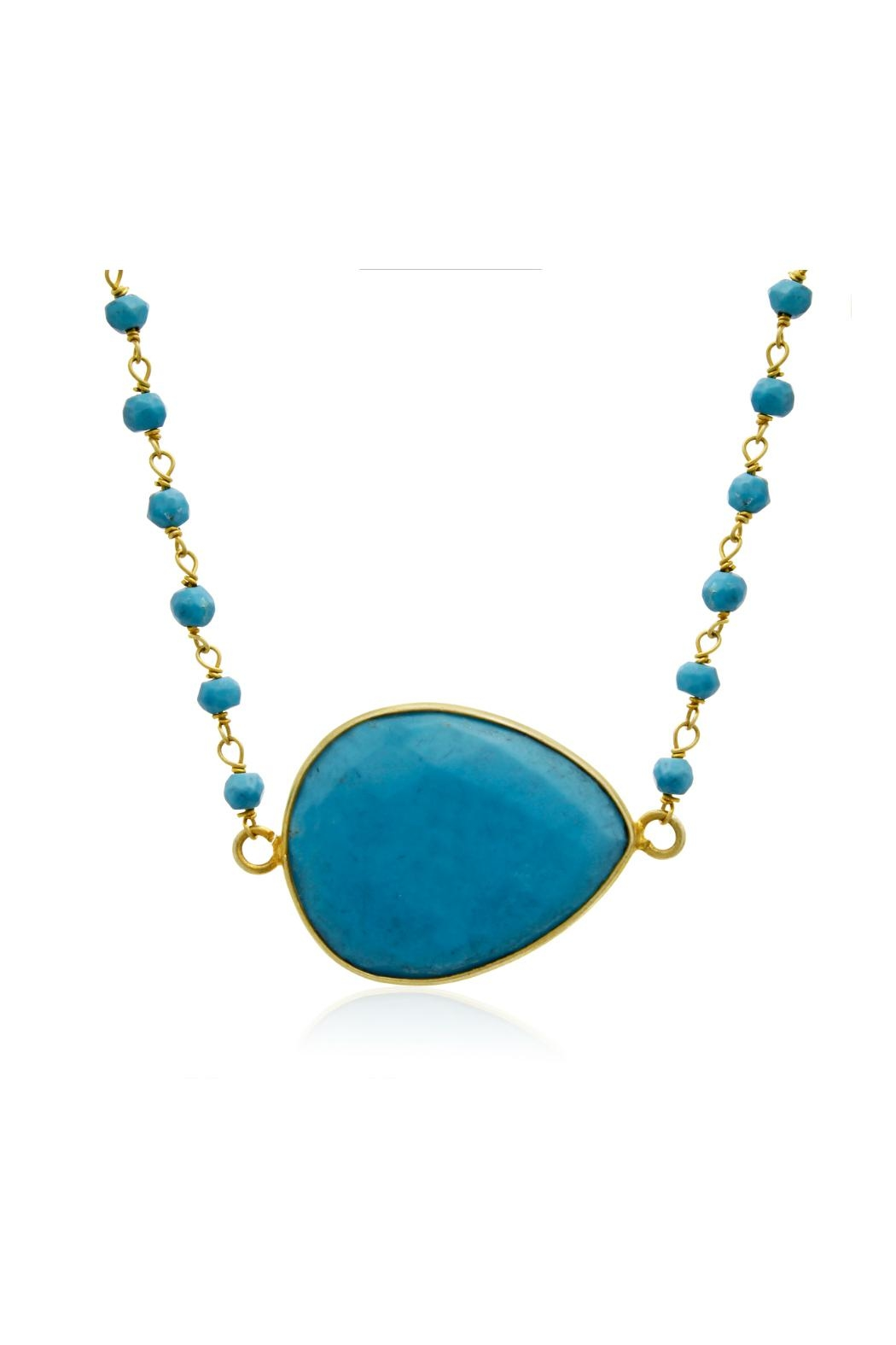 6th Borough Boutique Turquoise Harper Necklace - Front Cropped Image