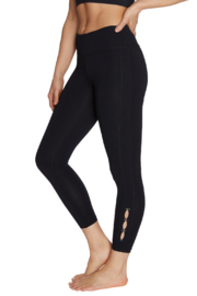 Betsey Johnson 7/8 Legging w Contrast Color Side Slits - Front cropped