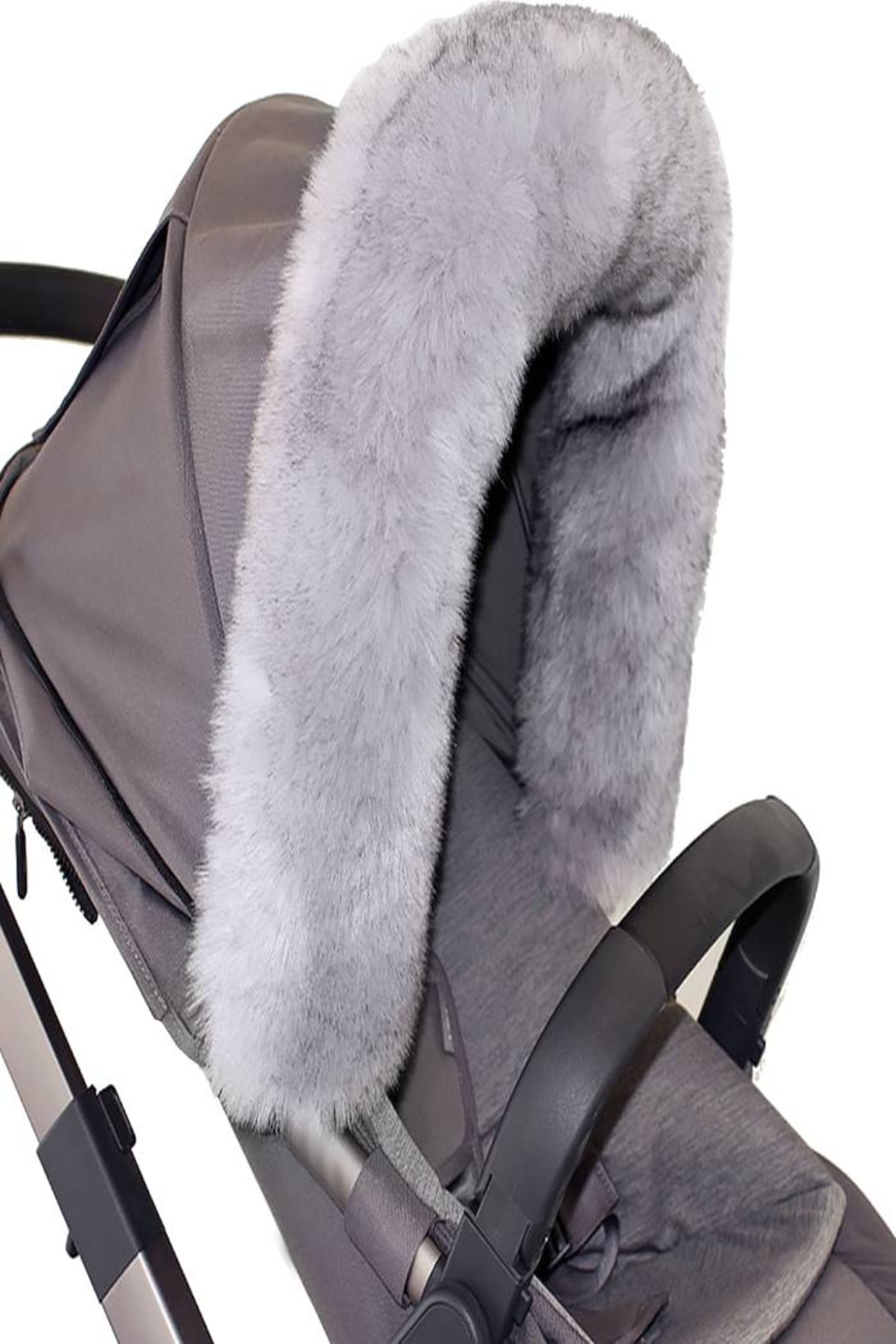 7AM Enfant 7 AM Enfant Faux Fur Marquee Tundra Canopy For Baby Carrier Or Stroller - Front Full Image