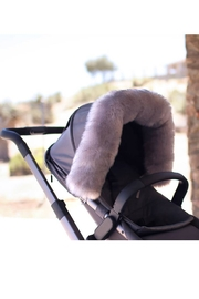 7AM Enfant 7 AM Enfant Faux Fur Marquee Tundra Canopy For Baby Carrier Or Stroller - Back cropped