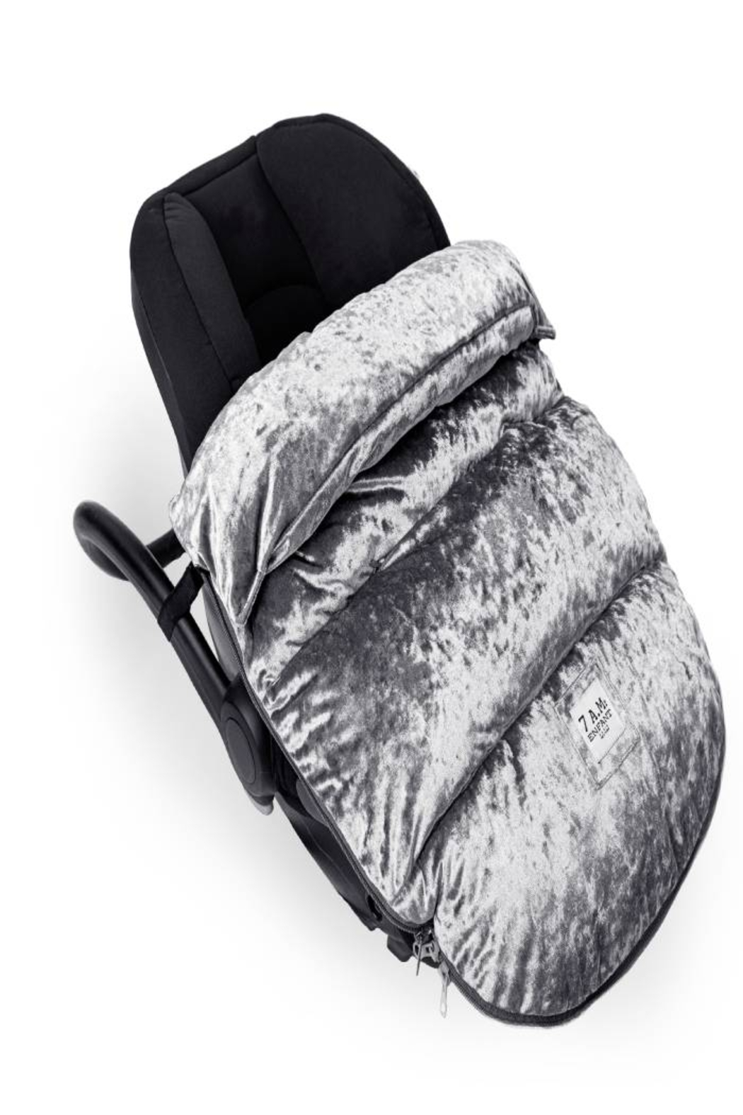 7AM Enfant 7 AM VelvetPOD Baby Carrier For Any Car Seat Or Stroller, Winter Gear (W:19 X D:2 X H:34 Inches) - Side Cropped Image