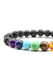 Freeship Wholesale - Faire 7 Chakra Lava Bracelet - Product Mini Image
