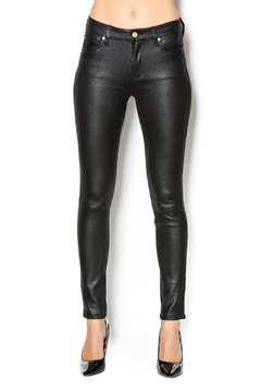 7 For all Mankind Black Crackle Skinny - Product List Image