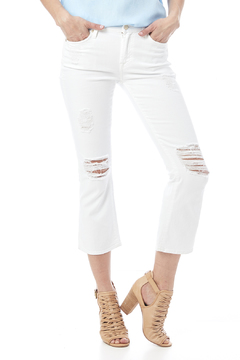 7 For all Mankind Cropped Bootcut Destroyed Jean - Product List Image