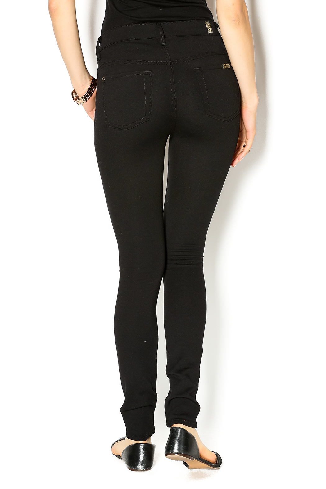 7 For all Mankind High Waist Skinnies - Back Cropped Image