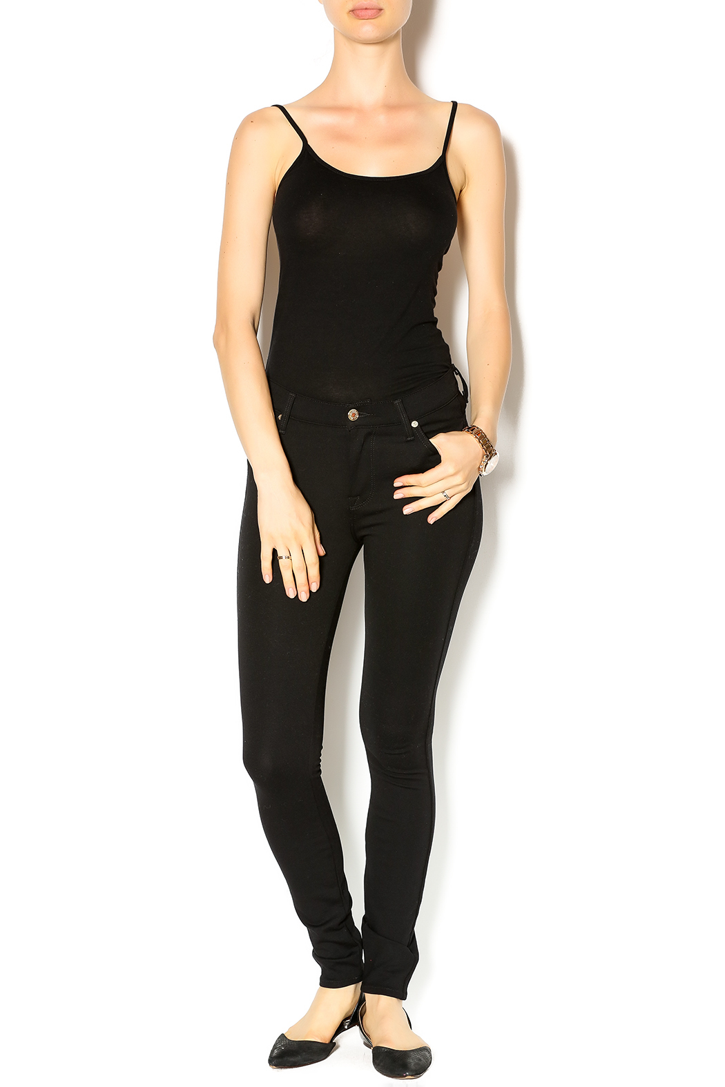 7 For all Mankind High Waist Skinnies - Front Full Image