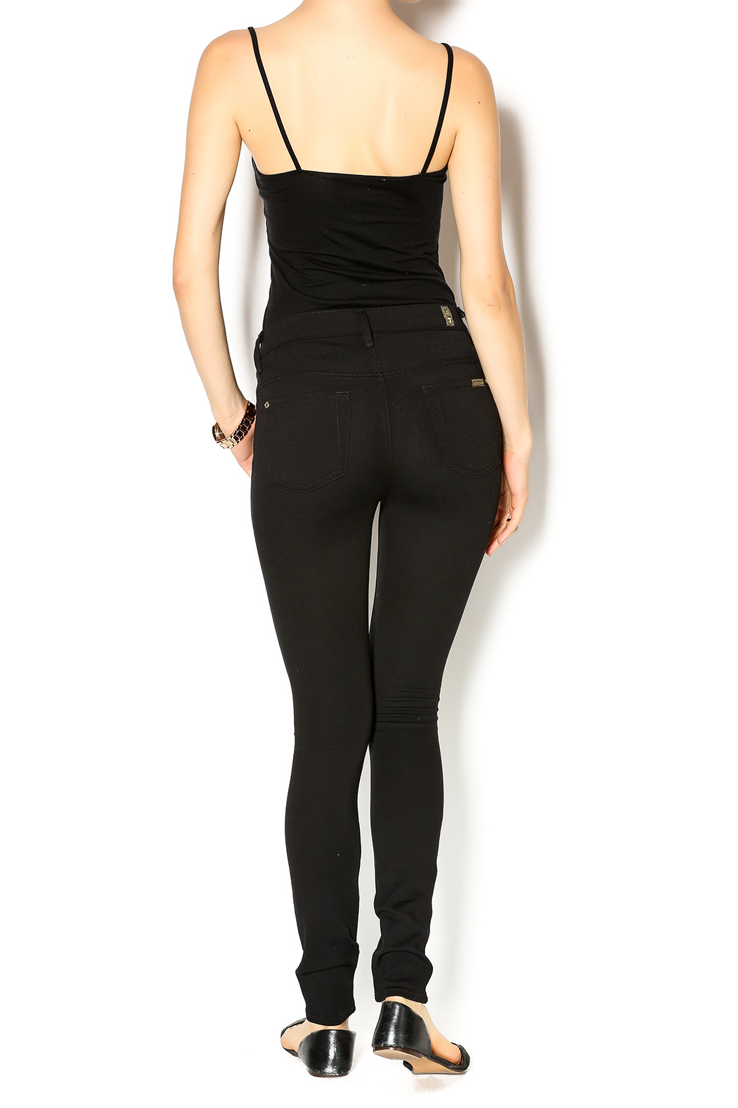 7 For all Mankind High Waist Skinnies - Side Cropped Image