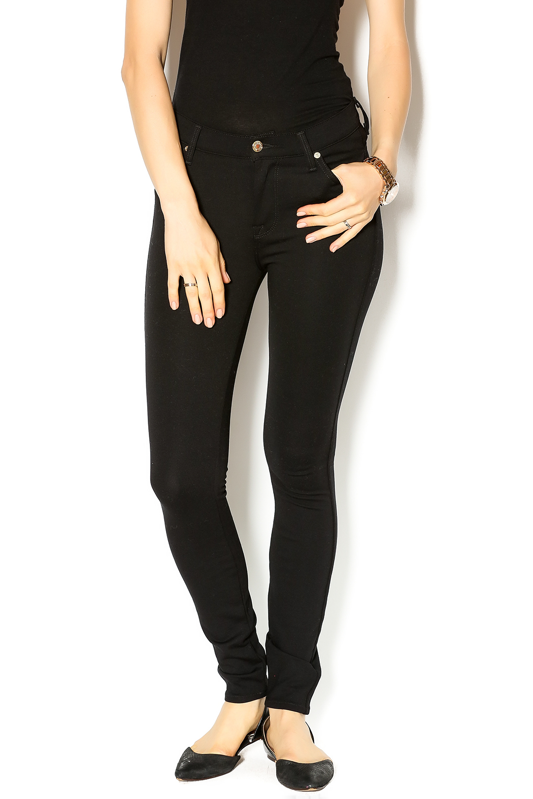 7 For all Mankind High Waist Skinnies - Main Image