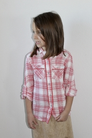 7 For all Mankind 7 For All Mankind Red Plaid Shirt - Front full body