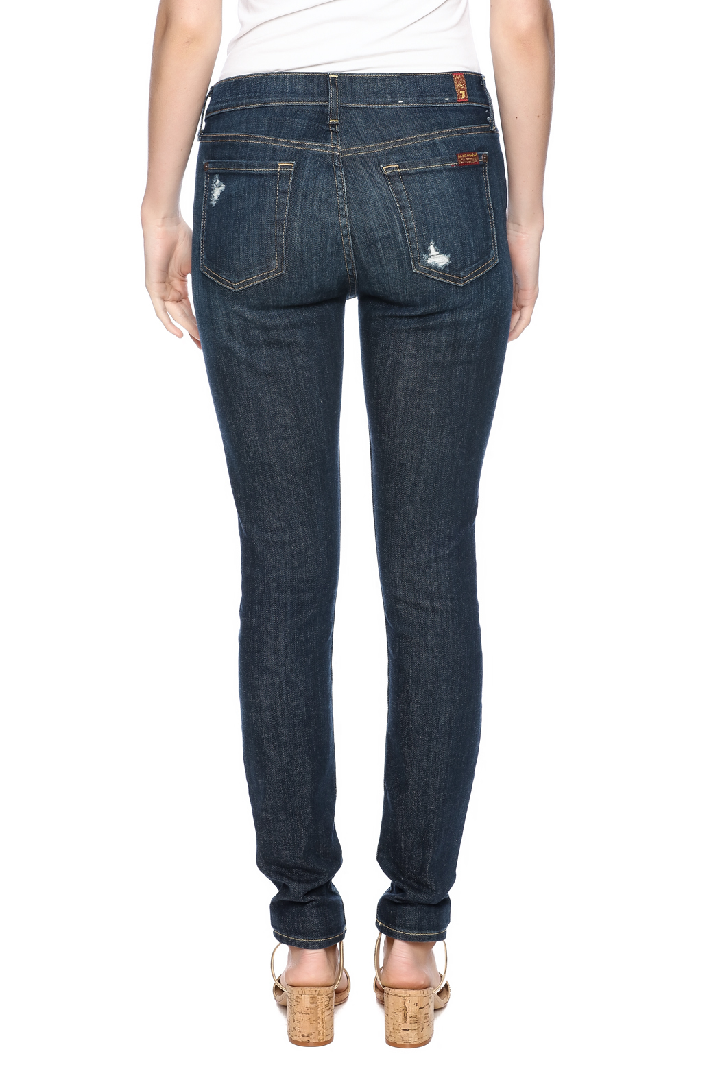 7 For all Mankind The Distressed Skinny - Back Cropped Image