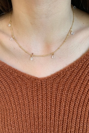 Amber  7 or 9 Stone Clear Quartz Necklace - Product Mini Image