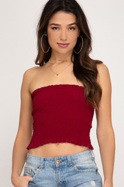 She + Sky 70'S Tube Top - Front cropped