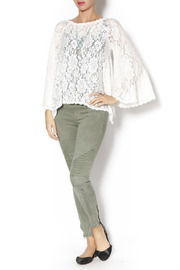 Gina Louise Lace Bell Sleeve Top - Front full body