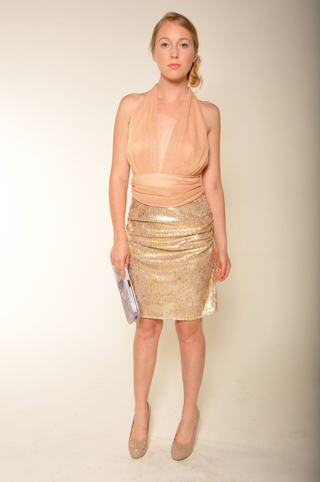 Mark & James by Badgley Mischka Sequin Tulle Cocktail Dress - Front Full Image
