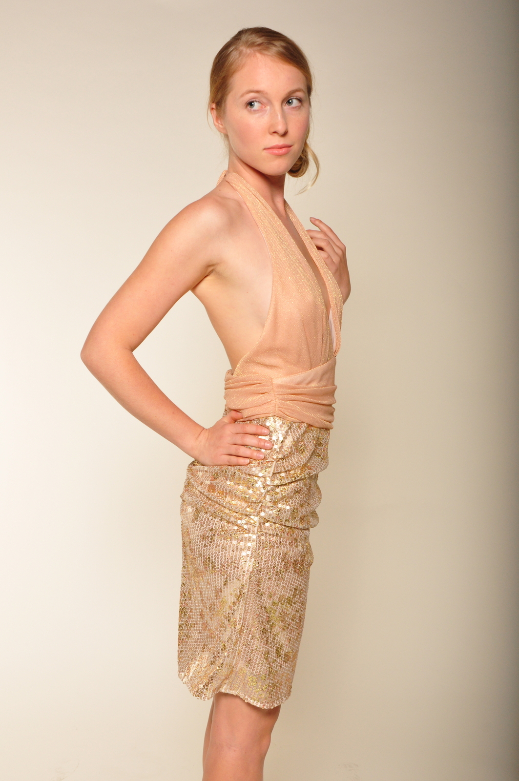 Mark & James by Badgley Mischka Sequin Tulle Cocktail Dress - Side Cropped Image