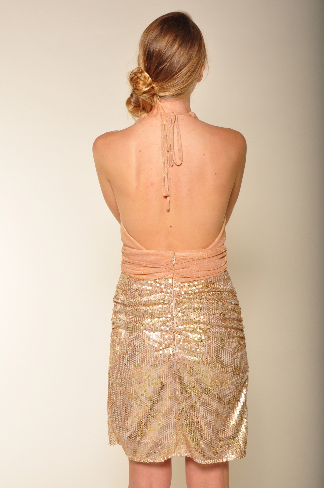 Mark & James by Badgley Mischka Sequin Tulle Cocktail Dress - Back Cropped Image