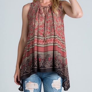 Coral Paisley Top  - Instagram Image