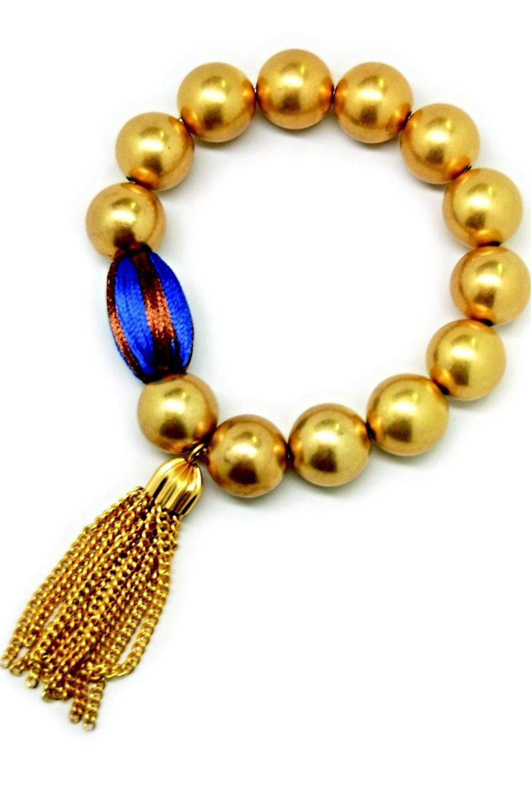 Made It! Gold Tassel Bracelets - Front Cropped Image