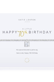 Katie Loxton 70th Birthday Bracelet - Product Mini Image