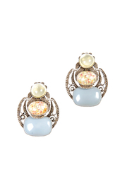 Shoptiques Product: Pale Dangle Clip Earrings
