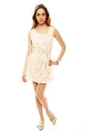 NU Bubble Lace Dress - Front full body