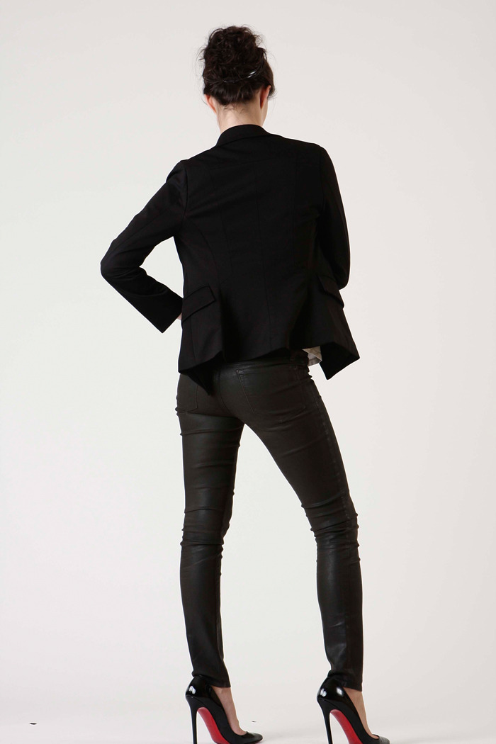Tuttitrendy Black Suit Jacket - Side Cropped Image