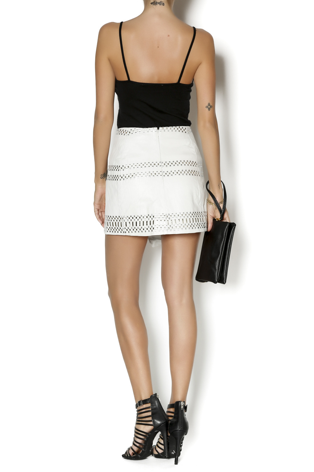 Parker Westin Leather Skirt - Side Cropped Image