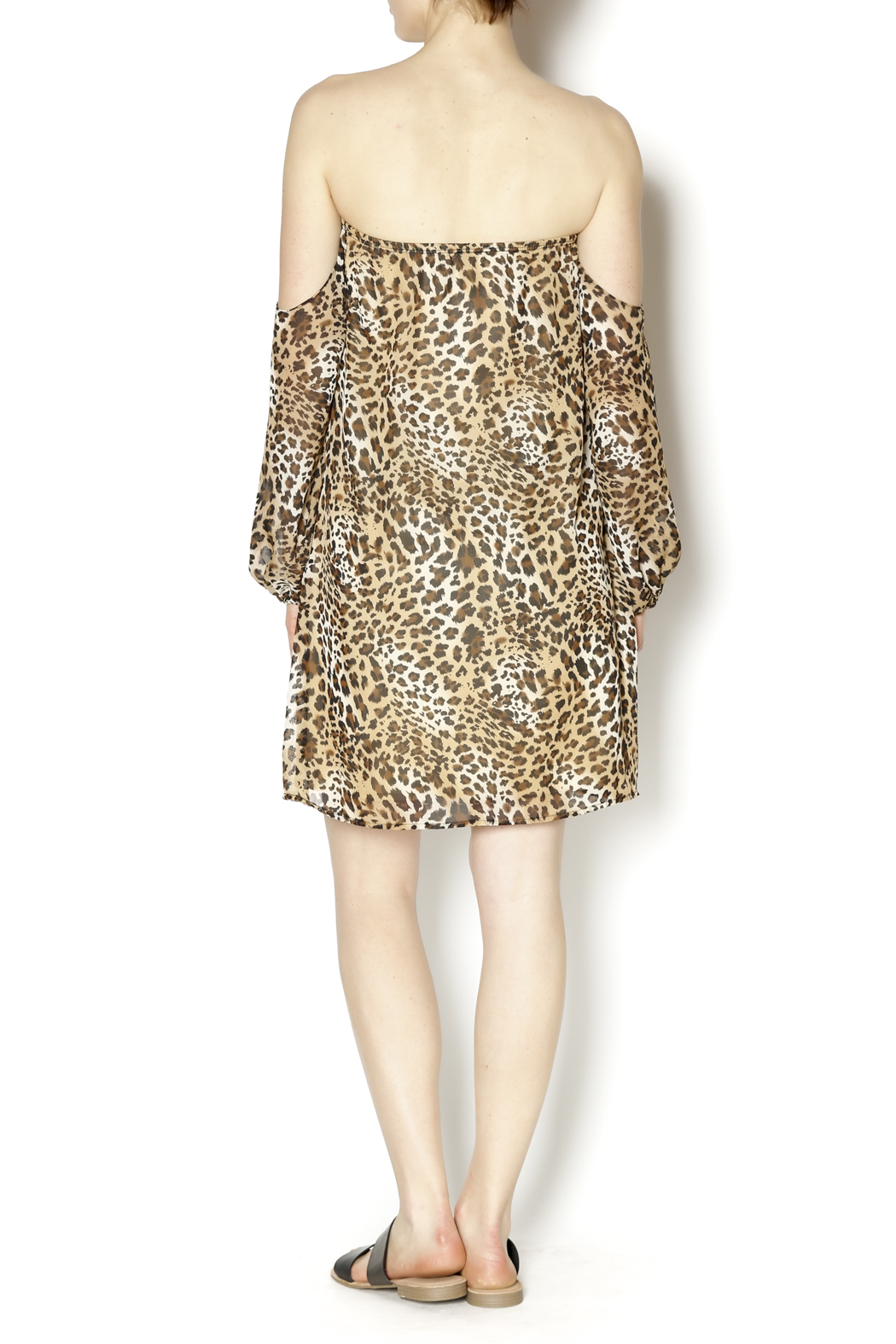 Turquoise Haven Leopard Dress - Side Cropped Image