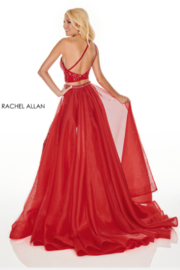 Rachel Allan 7204 - Long Gown - Front full body