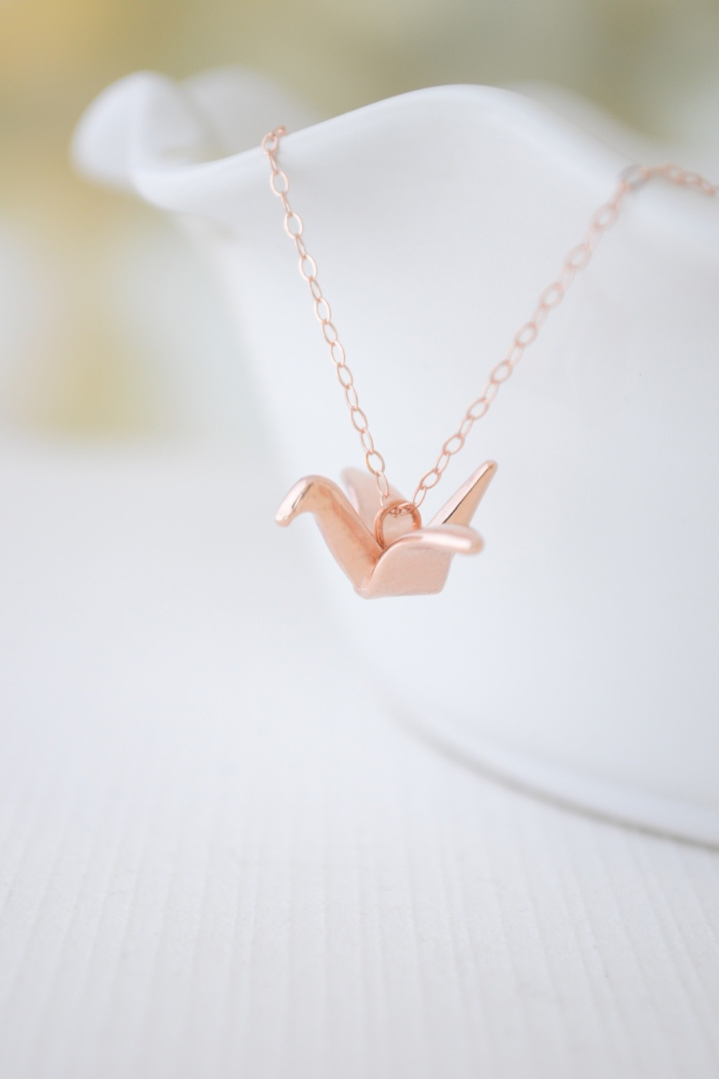 Olive Yew Origami Crane Necklace from North Carolina ... - photo#16