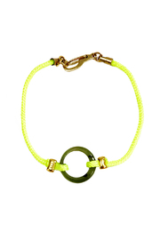 Shoptiques Product: Neon Yellow and Jade Bracelet