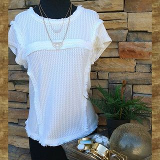 Shoptiques Product: Textured Cream Top