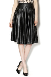 Ryu Midi Leather Skirt - Product Mini Image