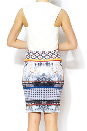 BLQ MKT White Rounded Crop - Back cropped