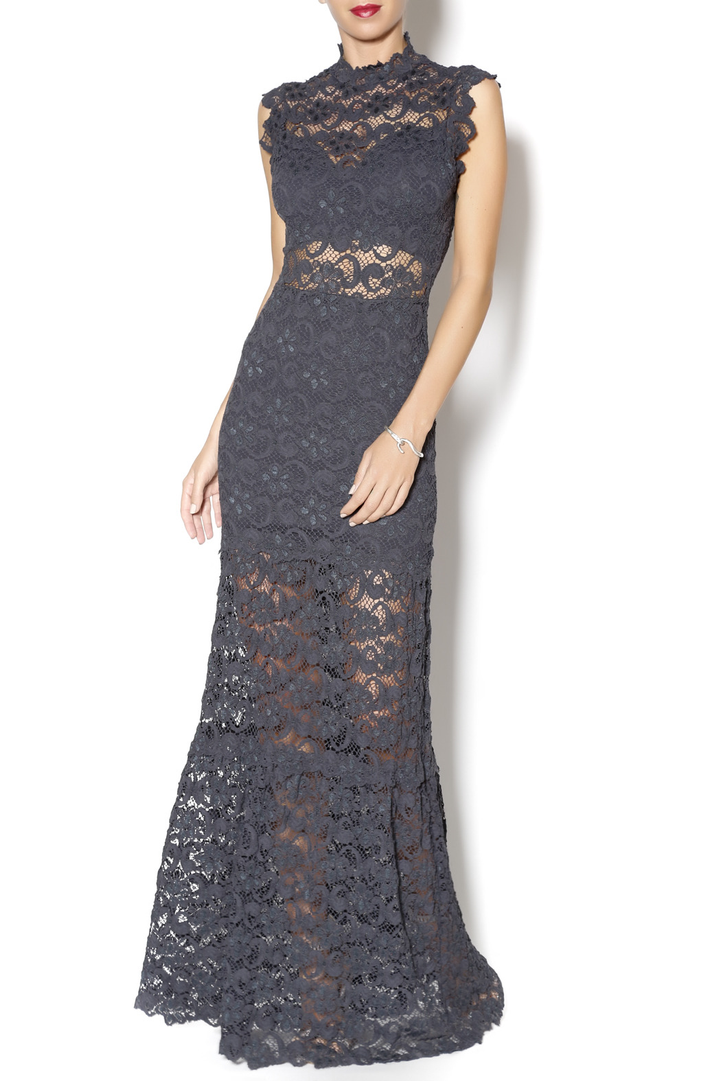 c2483a8dcd1e65 Nightcap Clothing Dixie Lace Maxi - Front Cropped Image