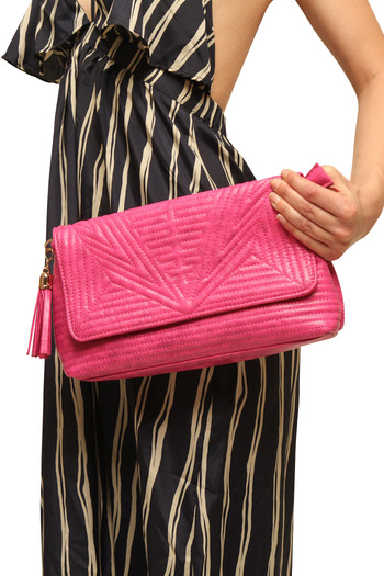 Urban Expressions Bright Quilted Clutch - Main Image