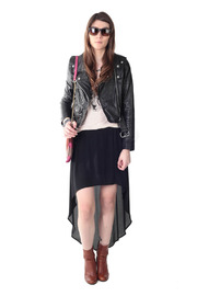 Hide label Leather Perfecto Biker Jacket - Front full body