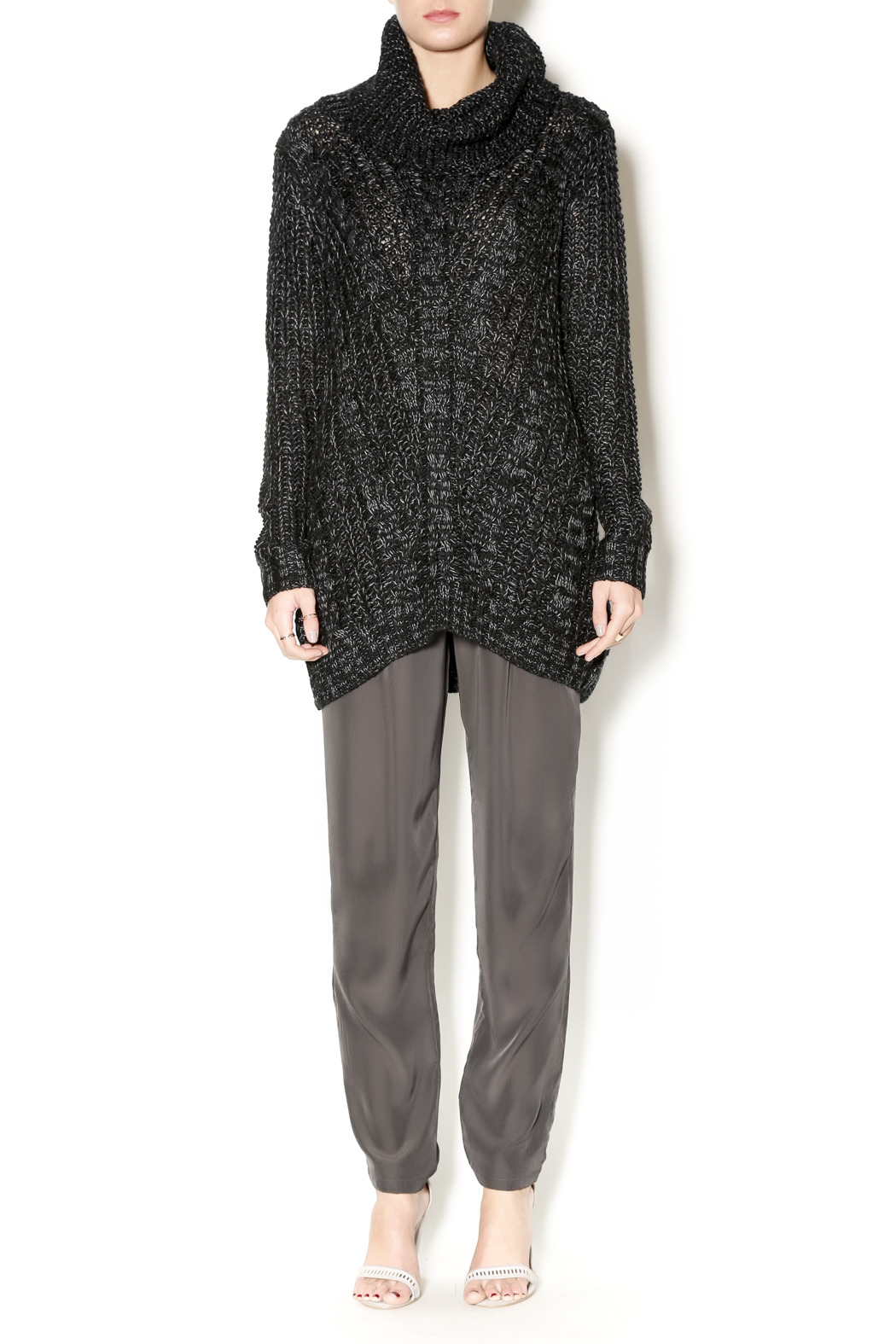 Cecico Long Knit Sweater - Front Full Image