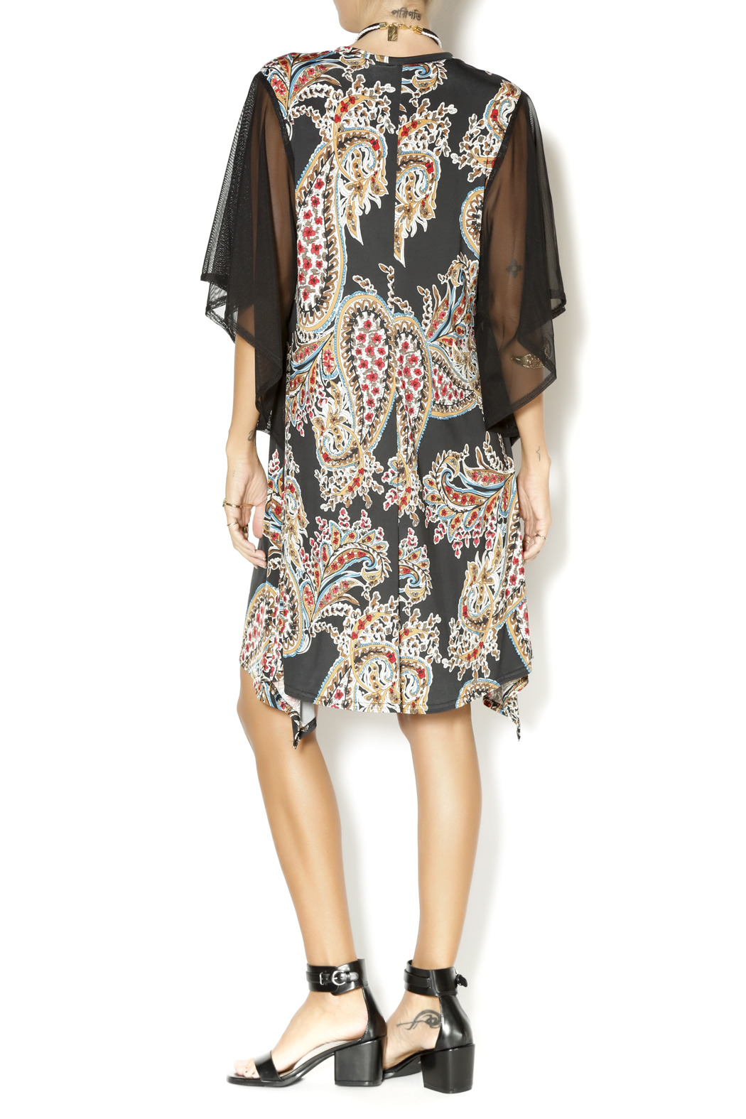 Uncle Frank Flutter Sleeve Dress - Side Cropped Image