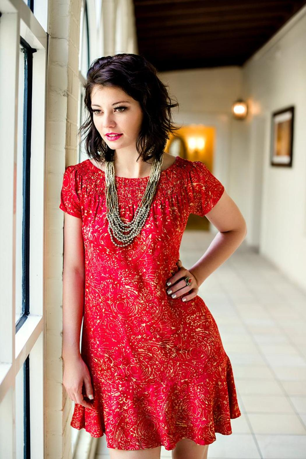 Red Batik Dress from Florida by Go Fish Clothing   Jewelry Co ... c52ec0ab37