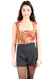 Shoptiques Product: Wide Strapped Cropped Tank Top